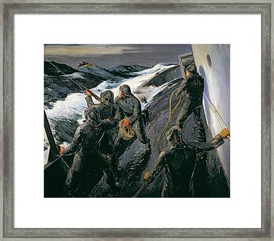 Rescue Framed Print by Thomas Harold Beament