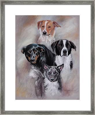 Rescued Friends Framed Print