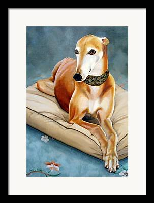 Dog Race Track Paintings Framed Prints