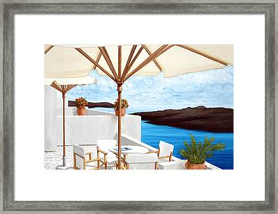 My Reservation For Four - Prints From My Oil Paintings Framed Print