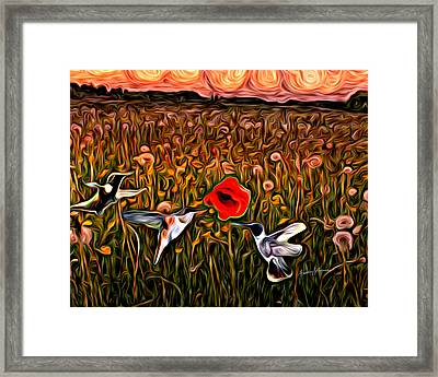 Reservations For Three Framed Print by Anthony Caruso