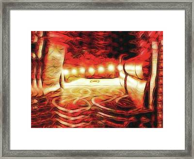 Framed Print featuring the digital art Reservations - Row C by Wendy J St Christopher