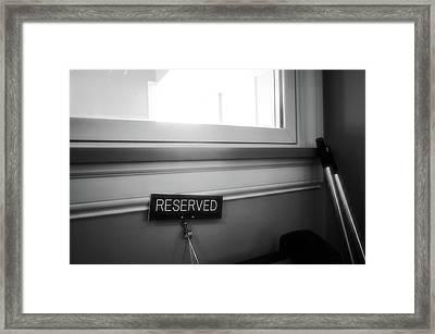 Framed Print featuring the photograph Reserved by Jeanette O'Toole