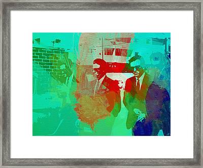 Reservoir Dogs Framed Print by Naxart Studio