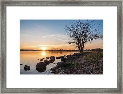 Reservoir Sunset Framed Print by Kristopher Schoenleber