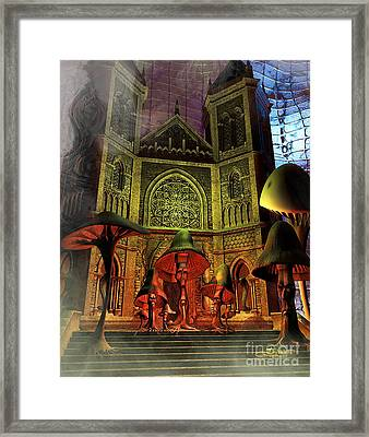 Residence Of The Mushroom Folk Framed Print by Jutta Maria Pusl