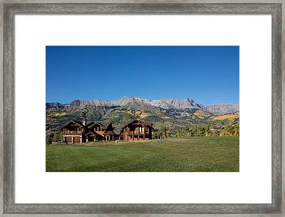 Residences In Mountain Village -- A Planned Community Adjacent To Telluride Framed Print by Carol M Highsmith