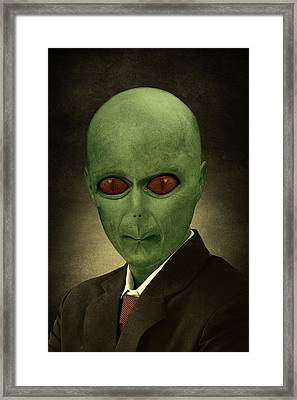 Resident Professor Of Interplanetary Research Area 51 Framed Print by Movie Poster Prints