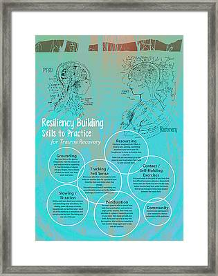 Resiliency Building Skills - Blue Framed Print