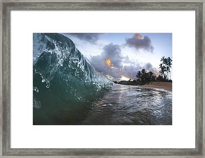 Resin Drip Framed Print by Sean Davey