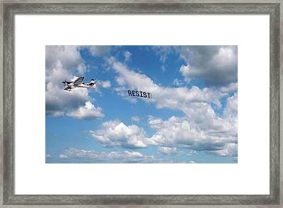 Resist Airplane Framed Print