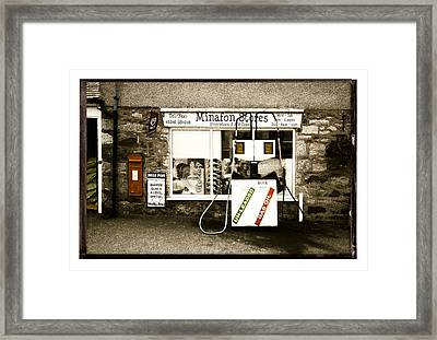 Resist Change - Village Shop Part1 Framed Print by Mal Bray