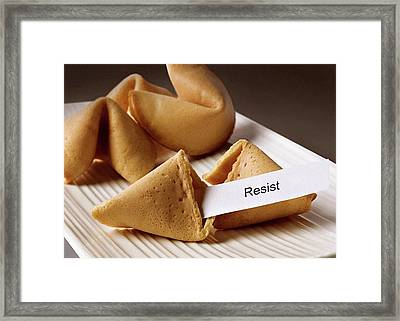 Resistance Fortune Cookie Framed Print by Susan Maxwell Schmidt