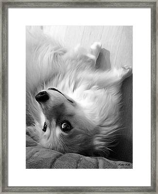 Resistance Is Futile Bw Framed Print by Kathy Kelly