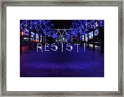 Resistance Light Painting Framed Print