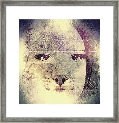Resistance Of The Pussy Cat Framed Print by Susan Maxwell Schmidt