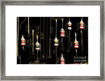 Resistors Framed Print by Michael Eingle