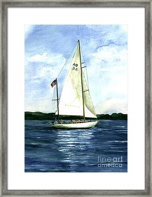 Framed Print featuring the painting Resolute by Nancy Patterson