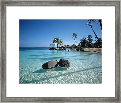 Resort Tahiti French Polynesia Framed Print