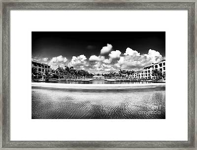 Resort View Framed Print by John Rizzuto
