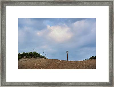 Respect The Beach Framed Print by JAMART Photography
