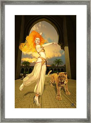 Respect The Leopard And Beware The Dancer Framed Print