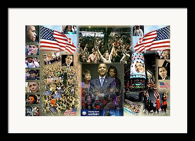 Election Day 2012 Digital Art Framed Prints