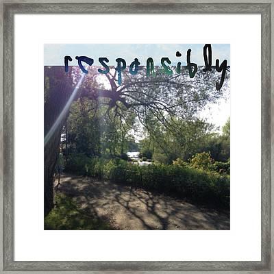 Responsibly Framed Print
