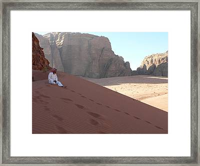 Rest At Wadi Rum Framed Print by James Lukashenko