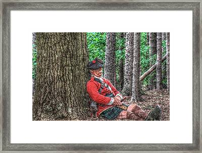 Rest From The March Royal Highlander Framed Print by Randy Steele