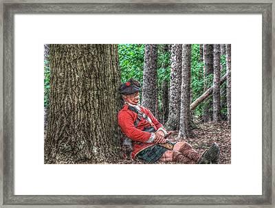 Rest From The March Royal Highlander Framed Print