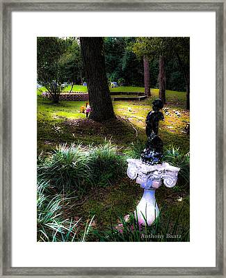 Framed Print featuring the photograph Rest In Peace by Anthony Baatz