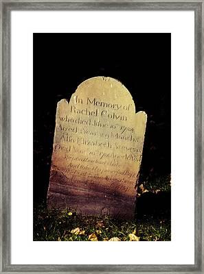 Rest In Peace Rachel Colvin Framed Print