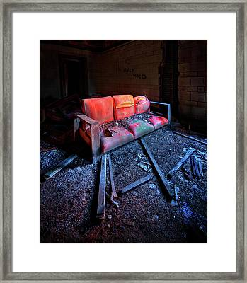 Rest In Pieces Framed Print by Evelina Kremsdorf