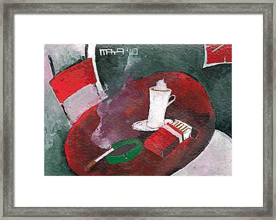Framed Print featuring the painting Rest by Maya Manolova