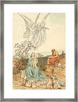 Rest On The Way To Egypt Framed Print by Victor Paul Mohn