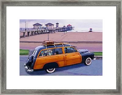 Rest Stop At Huntington Framed Print