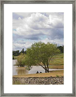 Rest Stop By The Lake Framed Print by Charlie Osborn