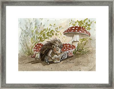 Rest Stop Framed Print by Michaela Eaves
