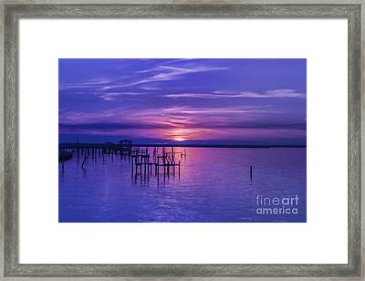 Rest Well World Purple Sunset Framed Print