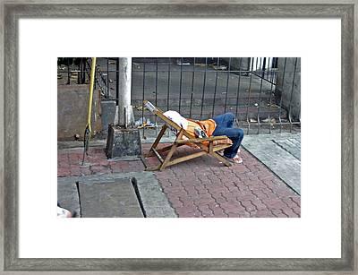 Rest Your Bones 2 Framed Print by Jez C Self