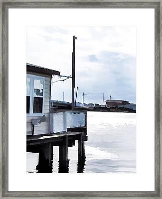 Restaurant By The Lake Framed Print