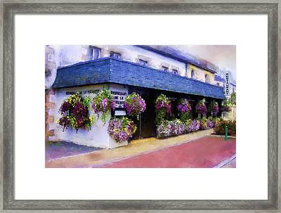 Restaurant De La Terrasse Framed Print by Michael Greenaway