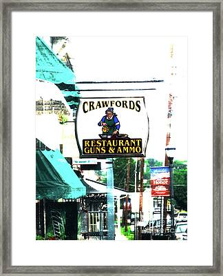 Restaurant Guns And  Ammo  Framed Print by Steven Digman