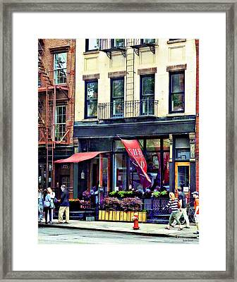 Restaurant In Chelsea Framed Print