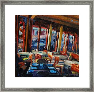 Restaurant On Columbus Framed Print by Rick Nederlof