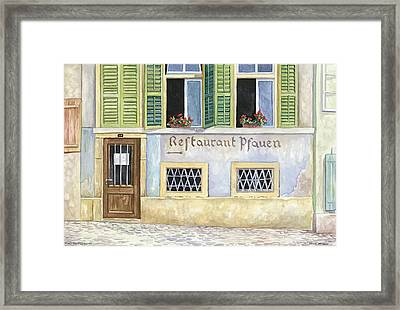 Restaurant Pfauen Framed Print by Scott Nelson