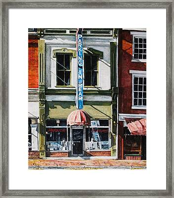 Restaurant Framed Print by Thomas Akers