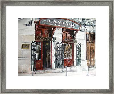 Restaurante Canadio Framed Print by Tomas Castano