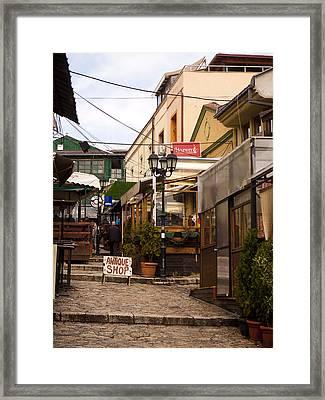 Restaurants In The Bazaar Framed Print by Rae Tucker